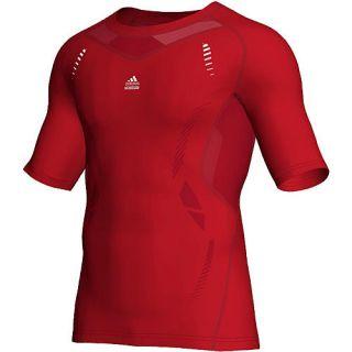 Adidas Herren Kompressions Shirt TechFit, rot im Karstadt sports