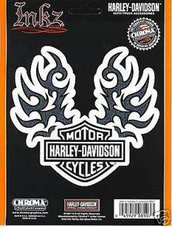 HARLEY DAVIDSON Bar and Shield w/ BLADES decal sticker