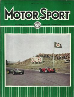MOTOR SPORT JAN 1962 AUSTIN HEALEY SPRITE LANCIA FLAVIA KIT CARS