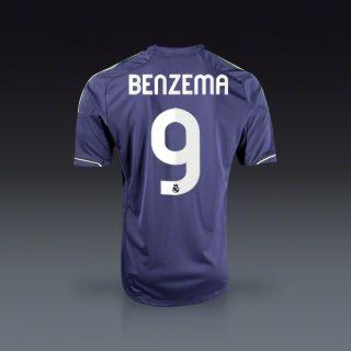 adidas Karim Benzema Real Madrid Away Jersey 12/13  SOCCER