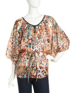 Alexia Leopard Print Belted Blouse