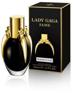 Lady Gaga Fame Black Fluid Eau De Parfum Spray 30ml   Free Delivery