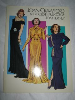 JOAN CRAWFORD PAPER DOLLS by TOM TIERNEY COLLECTORS FASHION PLATE BOOK