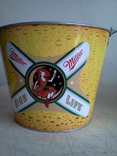 MILLER HIGH LIFE GALVANIZED METAL BEER BOTTLE BUCKET/BRAND NEW