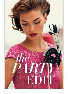 The Party Edit: From gorgeous Gothic Romance to Luxe Textures, shop