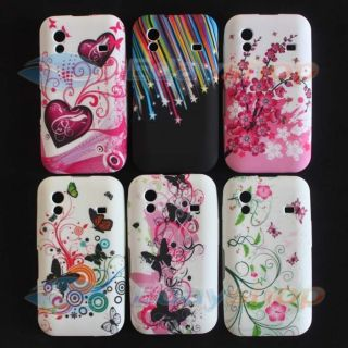 6x BUTTERFLY FLOWER SOFT SKIN CASE COVER MASK FOR Samsung Galaxy Ace