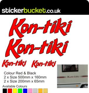 KONTIKI (kon tiki) (Kon Tiki) MOTORHOME STICKERS/GRAPHICS/DECALS
