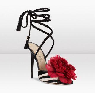Jimmy Choo  ICONS  Faye  Zebra Printed Pony/Suede Sandals