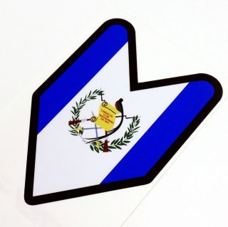 Guatemala Driver Badge Sticker Decal JDM Honda Wakaba Guatemalan Flag