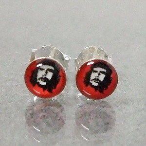 RedChe Guevara Imprint .925 Silver Stud Earrings