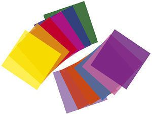 Transparent colour sheet 610 x 530mm coloured filters for PAR cans