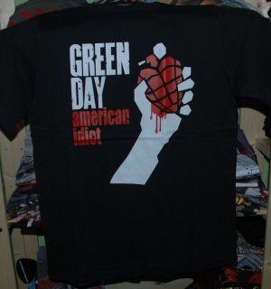 Green Day Americon Idiot black t shirt small medium Xlarge XL network