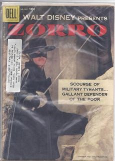Zorro #882 Walt Disney Dell Comics Good+ Book 1st Toth