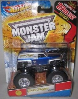 HOT WHEELS Monster Jam Grave Digger The Legend 1st Editions w/TOPPS
