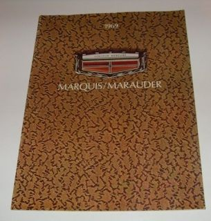 1969 Mercury Marquis Marauder Sales Brochure   Canada Version