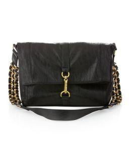 Handbags by Romeo & Juliet Couture Gretchen Messenger Bag, Black
