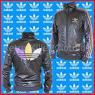 Adidas Originals Chile 62 Trefoil Black Wet Shiny Leather Look