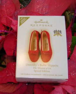 HALLMARK RUBY SLIPPERS HALLMARK ORNAMENT 2009  SOLD OUT