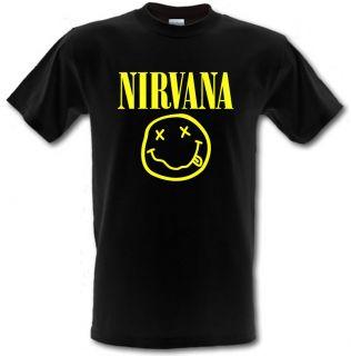 Nirvana Smiley Face logo Grunge Kurt Cobain t shirt *ALL SIZES*