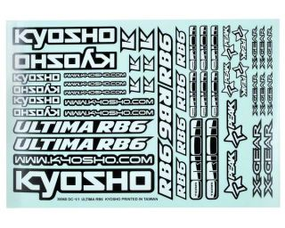 Kyosho Ultima RB6 Decal Sheet [KYOUMD02]  Stickers & Decals   A Main