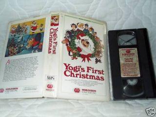 YOGIS FIRST CHRISTMAS VHS BEAR HANNA BARBERA CLAMSHELL