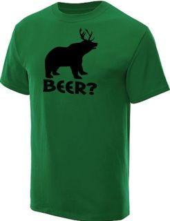 BEER? DEER BEAR T SHIRT HUNTING FUNNY TEE KELLY M