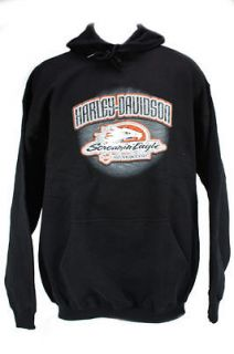 Harley Davidson Screamin Eagle NHRA Midweight Hoodie   New   Black