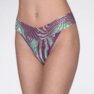 Mayhem Stripe Print Original Rise Thong on HankyPanky!
