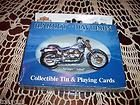 HARLEY DAVIDSON COLLECTIBLE TIN & PLAYING CARDS MINT NEVER USED NO