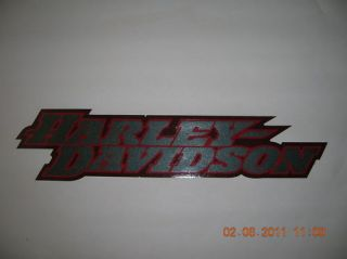 HARLEY DAVIDSON TANK DECAL PAIR (TWO) SILVER AND RED