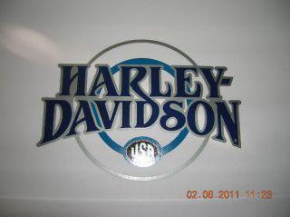 silver harley davidson decals
