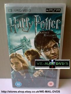 PSP UMD DVD   Harry Potter Year 7 [Part 1]  * New/Sealed ​*  Movie