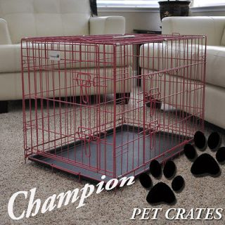Newly listed PREMIUM PINK 48 3 DOOR FOLDABLE SUITCASE DOG CAGE PET