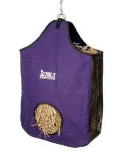 Tough 1 Canvas Large Horse Hay Tote Bag Feeder Horse Tack PURPLE