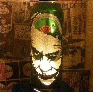 JOKER / DARK KNIGHT BEER CAN LANTERN POP ART LAMP HEATH LEDGER BATMAN