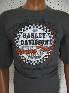 HARLEY DAVIDSON ** Charcoal Racing Team ** T SHIRT Greenville, SC