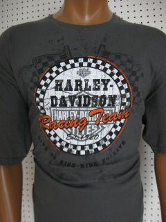 HARLEY DAVIDSON ** Charcoal Racing Team ** T SHIRT Greenville, SC