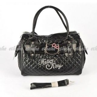 Hello Kitty Faux Leather Handbag Shoulder Bag Tote Purse Satchel Black