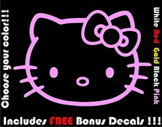 Hello Kitty Decal Car Window Sticker Laptop decal Free Bonus With Buy
