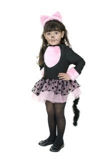 Miss Kitty Cat Kitten Animal Black Pink Cute Dress Up Halloween Child