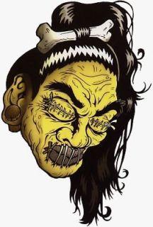 Cool SHRUNKEN HEAD Hot Rod Sticker HEAD HUNTER Sticker/Decal Artwork