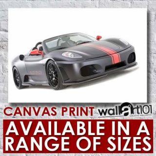 Ferrari F430 Hamann Black Miracle (1) High Quality Framed Canvas Art