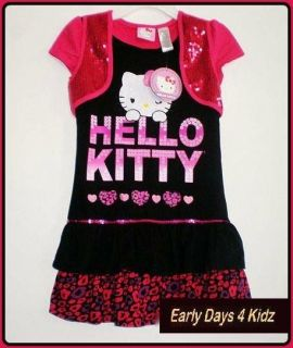 NEW GIRLS HELLO KITTY DRESS SIZES 6,7,8,9,10,11,12,14,16 SUITS 6 16