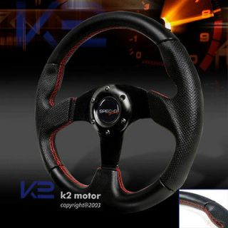 HONDA ACCORD PRELUDE REAL LEATHER STEERING WHEEL 320MM (Fits 2000