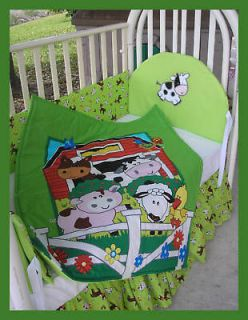NEW baby crib bedding set FARM ANIMALS cow sheep duck
