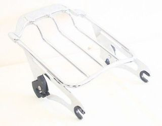 Detachable Air Wing Two up Luggage Rack for Harley HD Touring 09 up