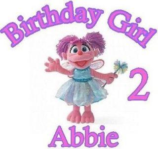 Abby Cadabby birthday name age baby girl one piece bodysuit custom