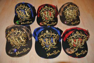 Bling Jewelry Cap New York GOLD Hip Hop Studs Rhinestone spike Hat