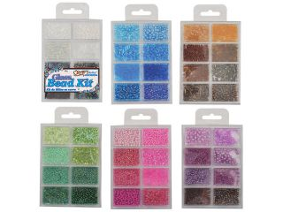 Assorted Glass Bead Lot Mix Jewelery Making Kit Bugle Seed ebead