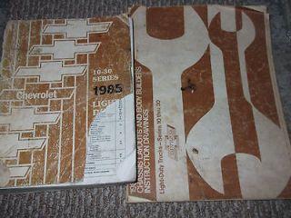 1985 CHEVY TRUCK 10 20 30 Series Service Shop Repair Manual FACTORY